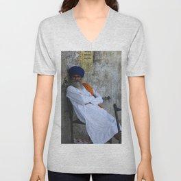 Sikh Man Unisex V-Neck