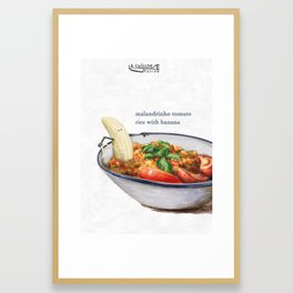 La Cuisine Fusion - Malandrinho Tomato Rice with Banana Framed Art Print