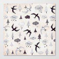 swallow Canvas Prints featuring swallow by Hui_Yuan-Chang
