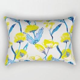 Yellow loves blue Rectangular Pillow