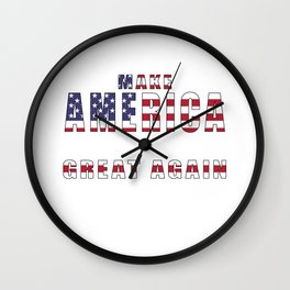 Make America Great Again - 2016 Campaign Slogan Wall Clock