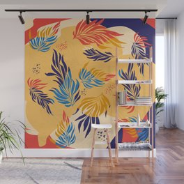 Primary Colors Leaves Wall Mural