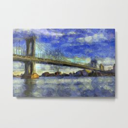 Manhattan Bridge New York Art Metal Print