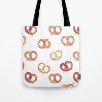 oana befort Tote Bags featuring PRETZELS by Oana Befort