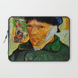 Van Gogh, Self-Portrait with Bandaged Ear and Pipe  – Van Gogh,Vincent Van Gogh,impressionist,post-i Laptop Sleeve