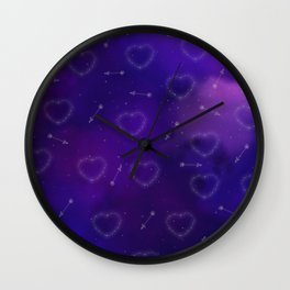 Hearts and Arrows Constellation Wall Clock