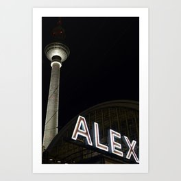 Alex and Berlin Art Print