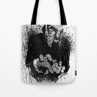 gladiator Tote Bags featuring The Gladiator by Matthew Dunn