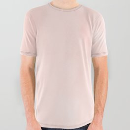 Seashell Pink Watercolor All Over Graphic Tee