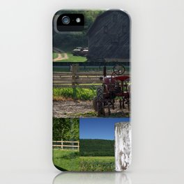 Barns of Summer Collage iPhone Case