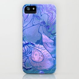 Mermaid's games iPhone Case