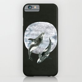 orcas' moon dance iPhone Case