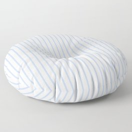 Alice Blue Pinstripe on White Floor Pillow