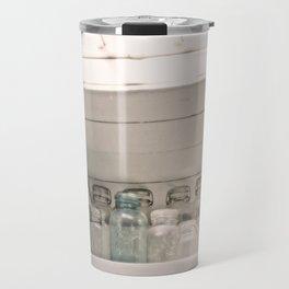 Vintage Jars in a White Kitchen Travel Mug