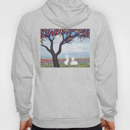 bunnies and the stained glass tree Hoody