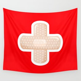 First Aid Plaster Wall Tapestry
