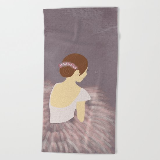 Ballerina Dancer 2 Beach Towel