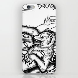 Werewolf Hunting medieval style iPhone Skin