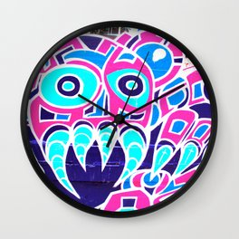 Angry Octupus - Graffiti - Street Art Wall Clock