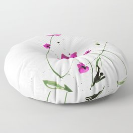Roseate Jewels No.12f by Kathy Morton Stanion Floor Pillow