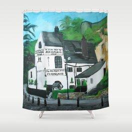 The Oldest Inn In England Acrylic Fine Art Shower Curtain