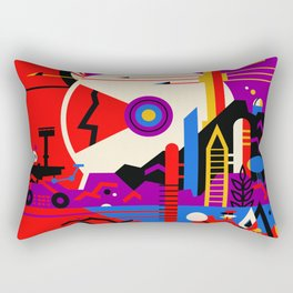 NASA Mars The Red Planet Retro Poster Futuristic Best Quality Rectangular Pillow