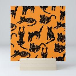 Cats Sketch Mini Art Print