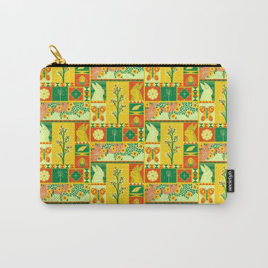 Spring Square Carry-All Pouch