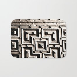 Wood Labyrinth Bath Mat