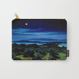 Night Sky By The Water Landscape Carry-All Pouch