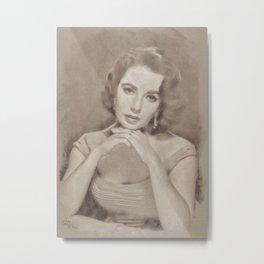Elizabeth Taylor by JS Metal Print
