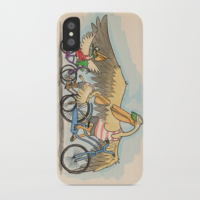 Dads and bicycles iPhone Case
