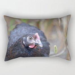 Black Hen Rectangular Pillow