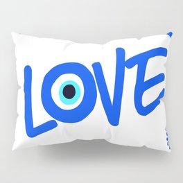 LOVE Mediterranean Eyes Pillow Sham