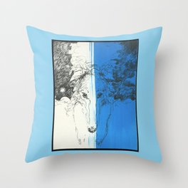 Tosca (Borzoi) Portrait # 11 Throw Pillow