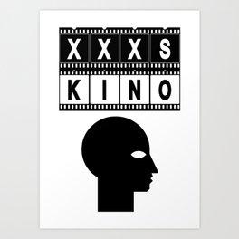 XXXS KINO HEAD FILMSTRIP Art Print