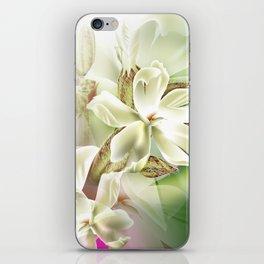 Dreamy White Flowers iPhone Skin