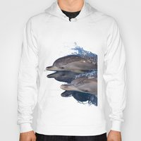 dolphins Hoodies featuring Dolphins by Chloe Yzoard