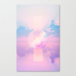 Pixel Sunrise Canvas Print