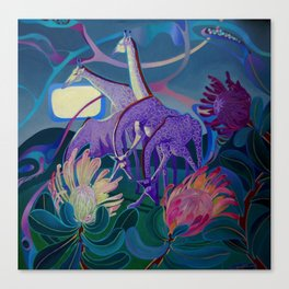 Moonlight dances Canvas Print