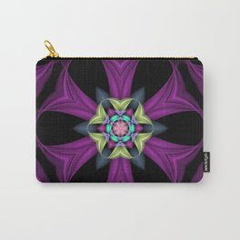 Soft Floral Fractal Carry-All Pouch