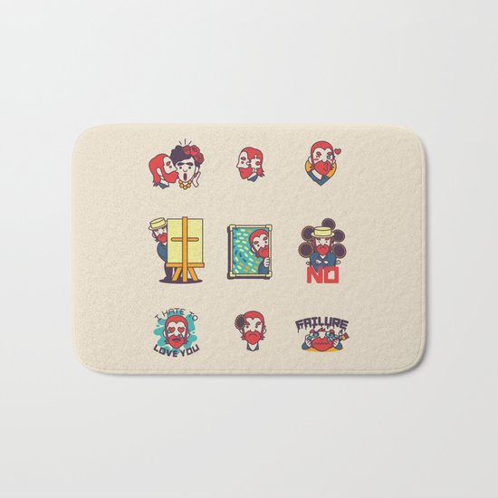 Van Gogh Stickers Bath Mat