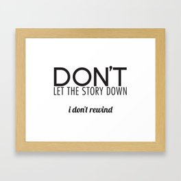 Rewind Framed Art Print