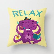 :::Relax Monster::: Throw Pillow
