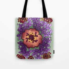 Pomegranate Poppies Tote Bag