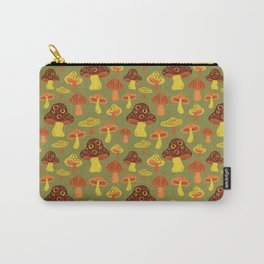Mushroom Print Carry-All Pouch