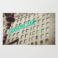 broadway Area & Throw Rugs featuring Broadway  by Carmen Moreno Photography