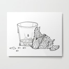 Thirsty Grouse Metal Print