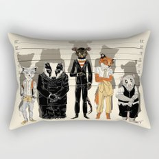 Unusual Suspects Rectangular Pillow