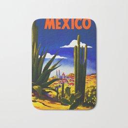 Vintage Mexico Village Travel Bath Mat